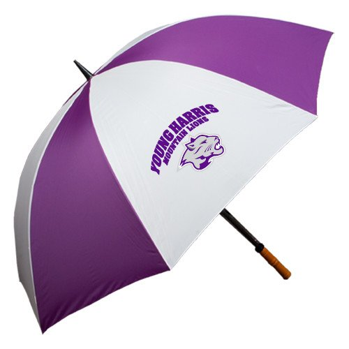 Young Harris 64 Inch Purple/White Umbrella 'Official Logo' by CollegeFanGear