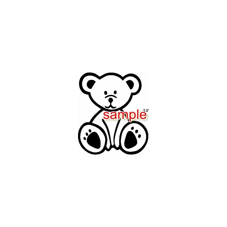 CUTE TEDDY BEAR CARTOON WHITE 10 VINYL DECAL STICKER