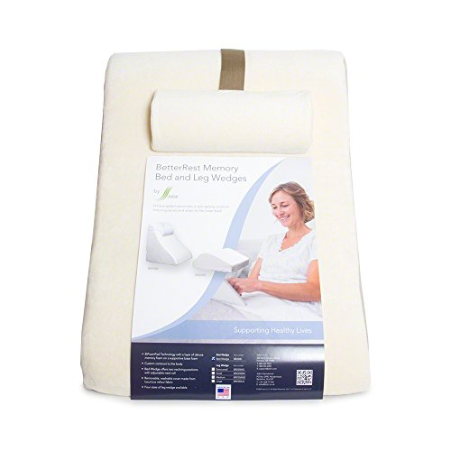 betterrest deluxe bed wedge pillow incline pillow great for surgical or injury recovery provides outstanding support to back and neck