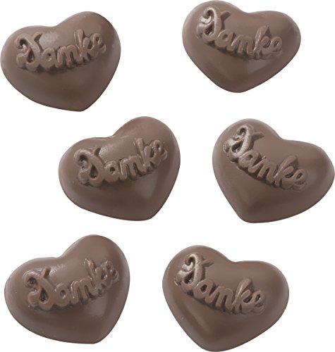 Schokoladengießform Herzlichen Dank 4,5 cm 6 Formen
