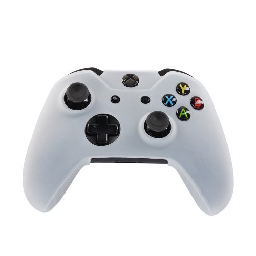 TNP Xbox One Controller Case (White) - Soft Silicone Gel Rubber Grip Case Protective Cover Skin for Xbox One Wireless Game Gaming Gamepad Controllers [Xbox One]