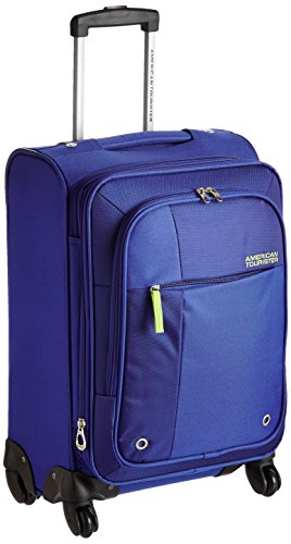 American Tourister Hugo Polyester 55cms Blue Softsided Suitcase (53W (0) 01 001)