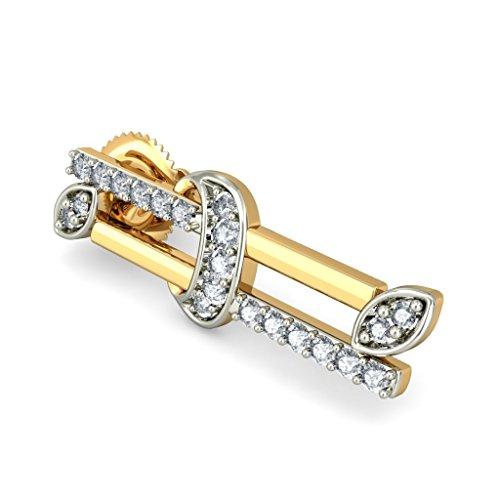 Or jaune 18K 0,32CT TW White-diamond (IJ | SI) Boucles d'oreille à tige