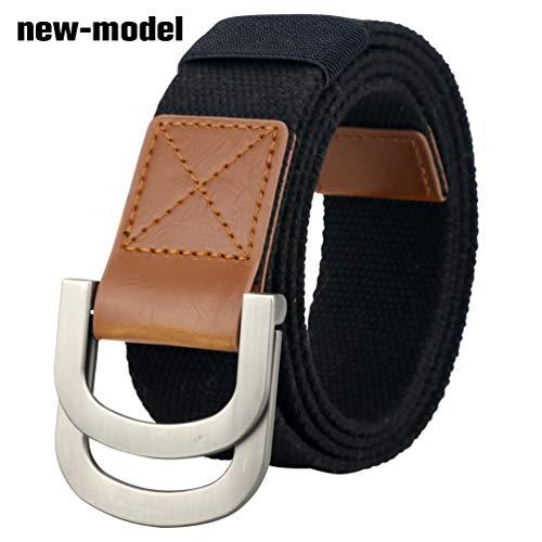Maikun Belts Military Web Canvas Double D-Ring Buckle Tactical Belt Valentine's Day