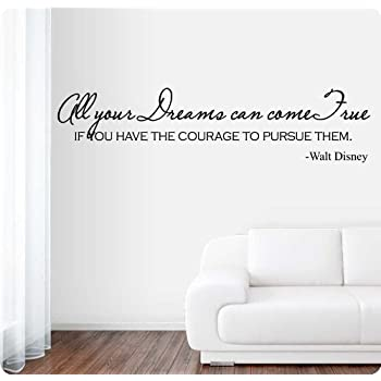 Dumbo Quote Vinyl Wall Decal Elephant Walt Disney Lettering