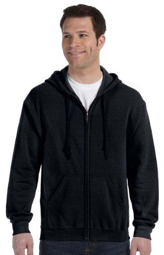 Gildan Heavy Blend Unisex Adult Full Zip Hooded Sweatshirt Top (M) (Black)