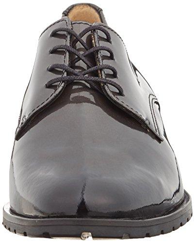 Sioux Barbia, Zapatos de Cordones Derby para Mujer Negro - Schwarz (Schwarz-Asphalt)
