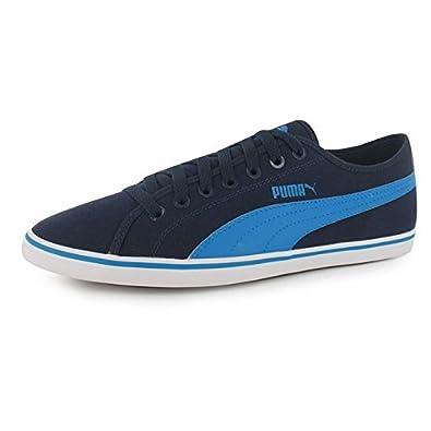 Puma Elsu v2 Canvas Herren Turnschuhe Leinenschuhe Freizeit Sportschuhe  Sneaker Navy Blue 9.5 (44 5dbc7f3b90