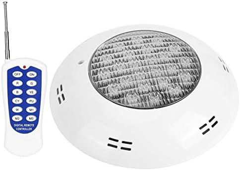 Qinlorgon 24LED Fernbedienung LED-Licht, Schwimmbadlicht, für Unterwasserbeleuchtung, Landschaftsbeleuchtung, Gartenbeleuchtung Unterwasserbeleuchtung Dekoration