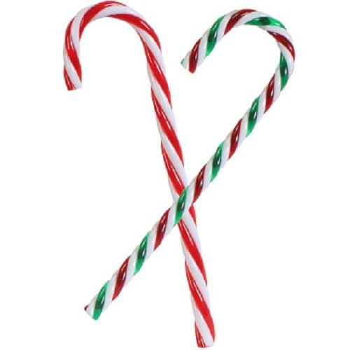 amazoncom christmas house plastic candy cane ornaments 2 6 ct packs 1 red 1 green striped home kitchen - Christmas Candy Cane