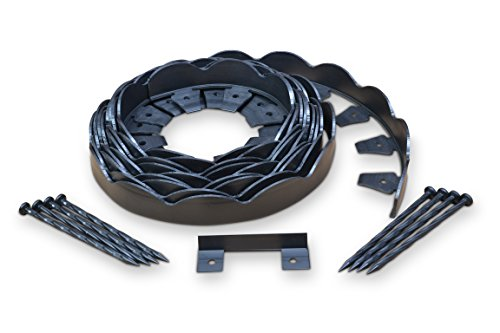 Dimex EasyFlex Scallop Top Plastic No-Dig Edging Project Kit, 40-Feet (Edging Kit)