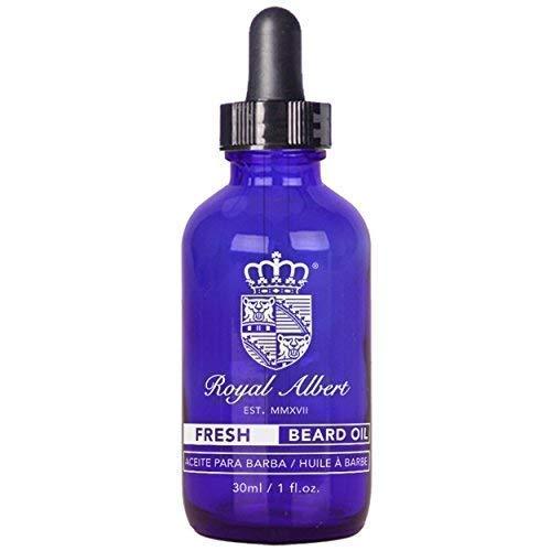 Royal Albert - Aceite para Barba FRESH (Menta-Hierbabuena) -Libre de Sulfatos, Parabenos y Alcohol - Con Aceite de Argan,...