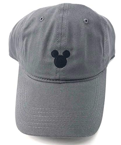(Disney Adult Mickey Mouse Silhouette Grey Baseball Cap Hat )