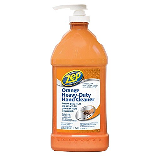 Zep ZU099148 Heavy-Duty Orange Hand Cleaner and Degreaser 48 Ounces - Industrial Hand Cleaner