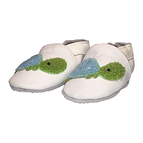 Baby Rae Infant/Toddler Turtle Soft Sole Leather Shoes