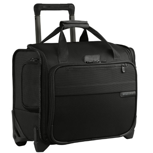 Briggs & Riley Baseline-Softside Rolling Cabin Upright Bag Carry-On Luggage, Black, Underseater 16-Inch