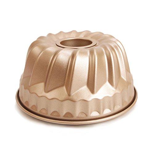 7 inch Bundt Pan for Instant Pot Kugelhopf Mold Flute Baking Pans Flan Pan Nonstick 1 Quart Cake Moulds Gold