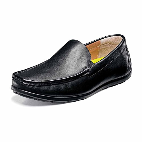 pay with paypal Florsheim Mens Draft Moc Toe Venetian Driver Black Smooth shipping outlet store online K2hw4s