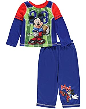 Mickey Mouse Football Long Sleeve Infant Pajama, Baby Boys Sizes 12M-24M