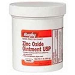 Rugby Zinc Oxide Ointment 1 Lb (Pack Of 2) Wlm