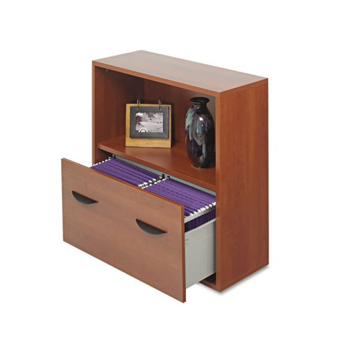 Safco Products 9445CY Apres Modular Storage Shelf with Lower File Drawer, Cherry