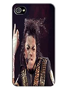 Lovely cute 3d pattern tpu case/cover/spell with texture for iphone4(Michael Jackson) by Shari Flanders