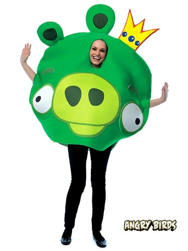 Green Angry Bird Costumes - Angry Birds Adult Costume Green - Standard