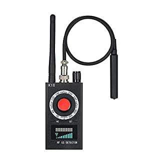 JMDHKK Anti Spy RF Detector Wireless Bug Detector Hidden Camera Finder GSM Listening Device Locator GPS Tracker Detector Wireless Audio Bug Counter Surveillance Device