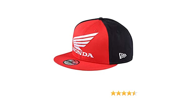 341929c0a973e Troy Lee Designs New Era Honda Wing Snapback Hat (OSFA Red) at Amazon Men s  Clothing store