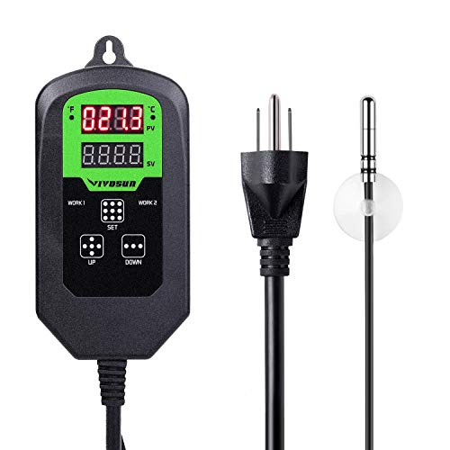 VIVOSUN Digital Heating Thermostat Temperature Controller with Timer Cycle for Seed Germination Reptiles Brewing and Hatching