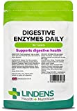 Lindens Digestive Enzymes Daily Tablets | 90 Pack | Contains Betaine HCL, Papain, Amylase & Lipase to promote better digestion