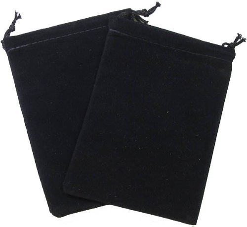 Chessex Dice: Velour Cloth Dice Bag - Small (4 x 6) - BLACK by (Small Cloth Bags)