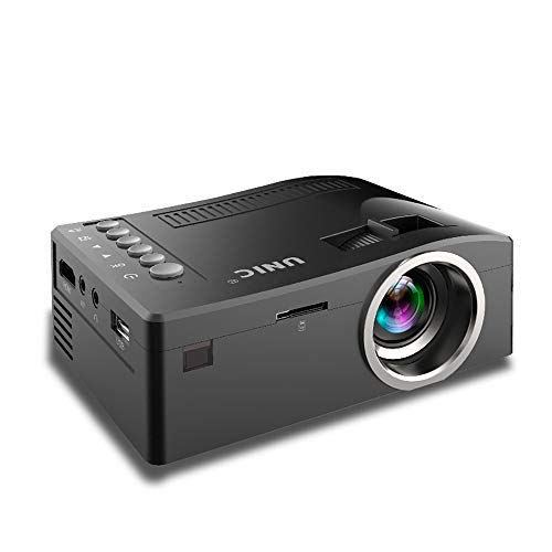 ZYG.GG Projector, Mini Projector Portable, 2200 Lux LCD Video Projector, Full HD 1080P and 130'' Display Supported, Compatible with TV Stick, PS4, HDMI, VGA, TF, AV and ()