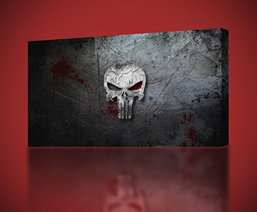The Punisher Skull Logo CANVAS PRINT Home Wall Decor Giclee Art Marvel CA253, Huge