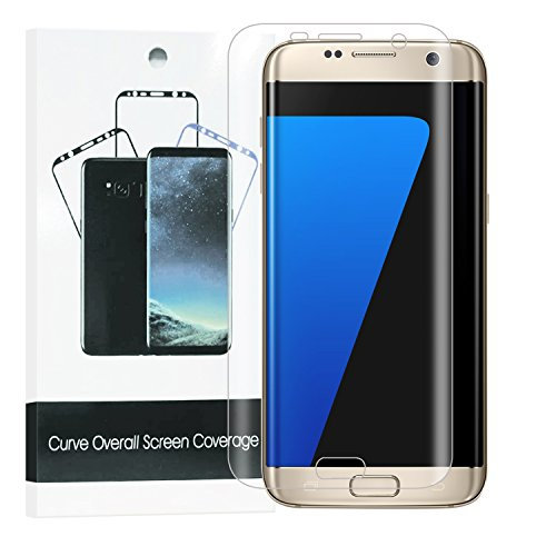 Galaxy S7 Edge Screen Protector [2-Pack], HoPerain full-screen coverage Samsung Galaxy S7 Edge 3D PET HD Screen Protector