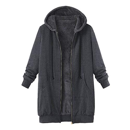 (Dimanul✿ Pea Coat Women Women Tops Plus Size Womens Winter Warm Outwear Solid Hooded Pockets Vintage Coats Black Coat )