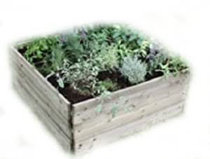 Greena Square Raised Bed - Ideal herb planter / flower planter - Different sizes available (90(L)cm x 90(W)cm x 30(H)cm)