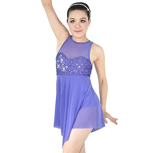 [MiDee Stage Dance Costume Dress for Children and Adults 5 colors 10 sizes available (SA, Purple)] (Dance Costumes For Adults)