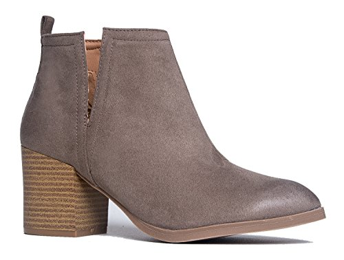 J. Adams Barry Western Ankle Bootie, Taupe PU, 8 B(M) US