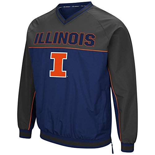 - University of Illinois Windbreaker Jacket Coach Klein Pullover (Large)