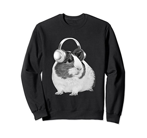 Unisex Guinea Pig Beats Are What I Jame To All Day With Headphones XL: Black