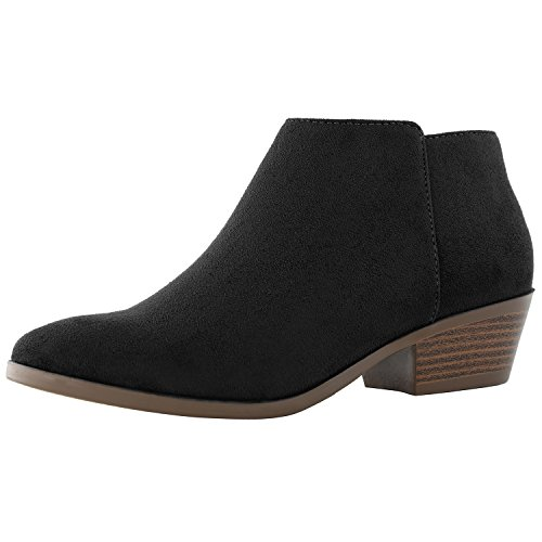 Sv Stylish Boots Toe Cowboy Heel Comfortable Women's Chunky Black Pointed Western Ankle Booties DailyShoes PwpOW6Hn