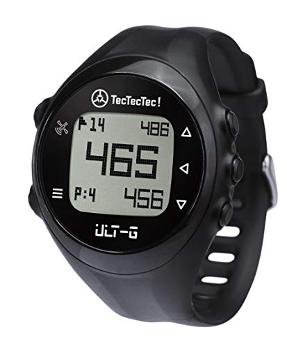 TecTecTec ULT-G Golf GPS Watch with Step Tracking, Preloaded Worldwide Courses, Lightweight, Simple, Easy-to-use Golf Watches
