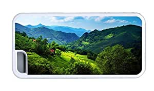 Hipster free shipping iPhone 5C cover green hills 1 TPU White for Apple iPhone 5C