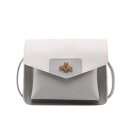 baskuwish Elegant Women Contrast Bag,Fashion Laminated Single Shoulder Bag Messenger Bag Easily Match
