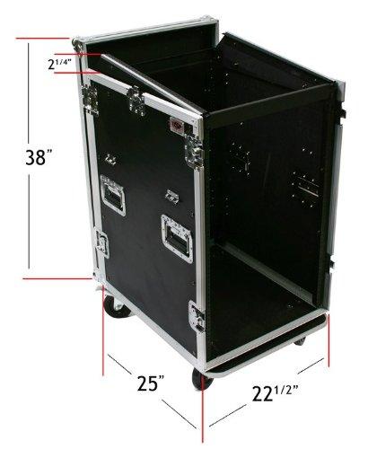 16 Space ATA Mixer/Amp Rack Case 12 Space - Top Slant