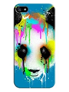 Sangu Colorful Panda Hard Back Shell Case / Cover for Iphone 5 and 5s - Blue