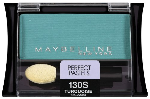 (Maybelline New York Expert Wear Eyeshadow Singles, 130s Turquoise Glass Perfect Pastels, 0.09 Ounce)