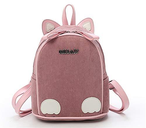Pink Dessinée Cuir Mignon Ypsg Dos A Mode Animale Femme Pop De Sac Bande fBq7z