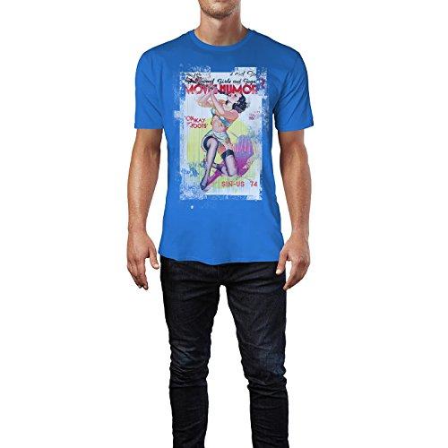 SINUS ART® Movie Humor Herren T-Shirts stilvolles royal blaues Fun Shirt mit tollen Aufdruck